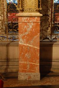 Fabrication du pied du tabernacle