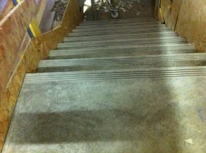 Escalier béton armé fini